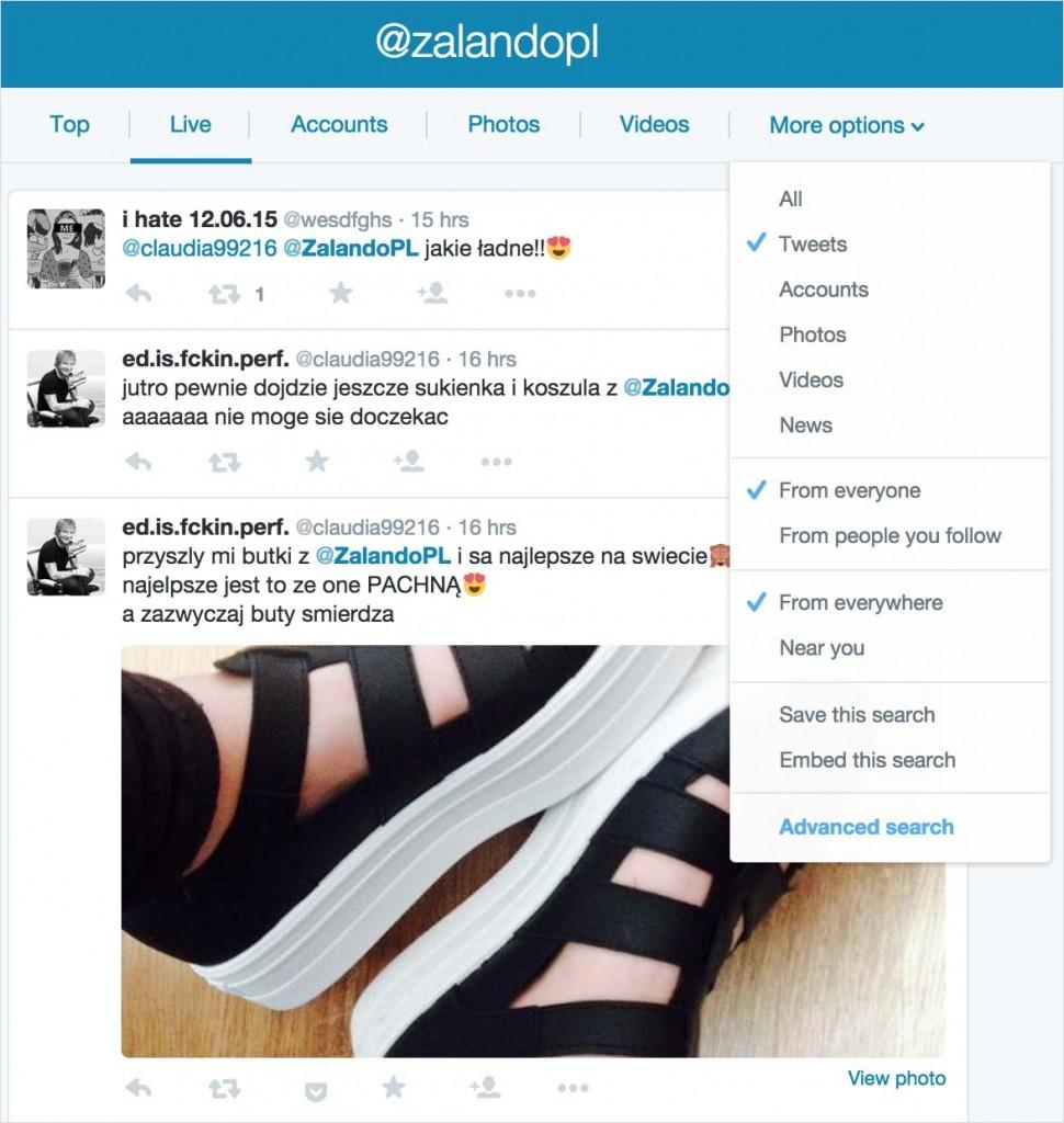 Twitter - sprawdzanie wzmianek okonkurencji