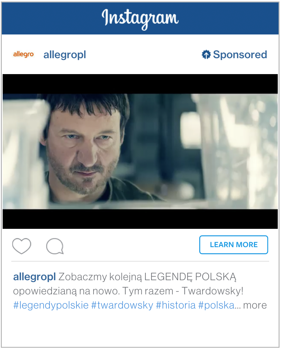 Reklama video naInstagramie