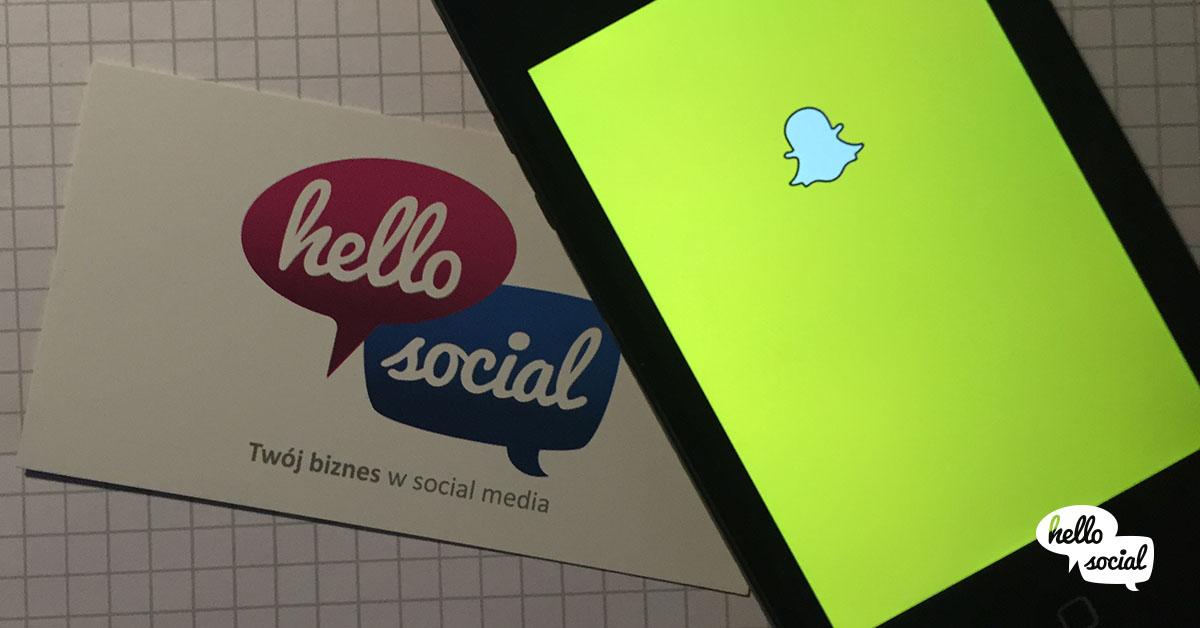 Say Hello toSnapchat – czyli pierwszy snap marketera
