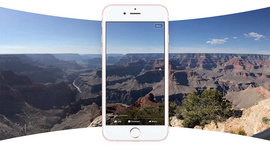 Zdjęcie panoramiczne naFacebooku