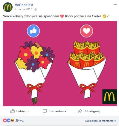Dzień Kobiet - McDonald's
